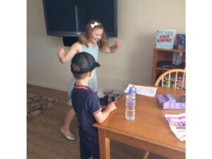 Kids dancing to alarm clock