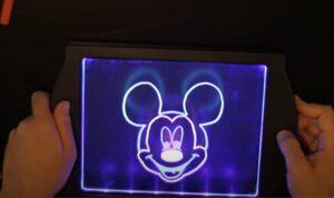 Mickey Mouse on GlowArt - lighting mode 2