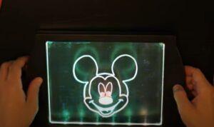 Mickey Mouse on GlowArt - lighting mode 3