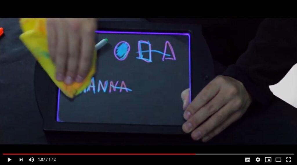 erasing light up drawing board for kids